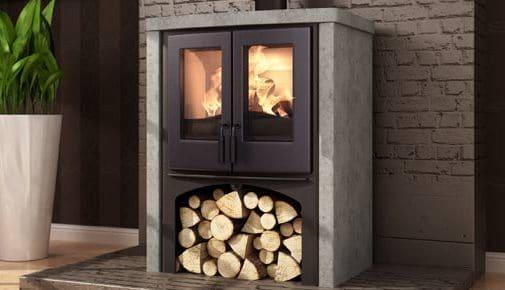 Houtkachel Nordic Fire Lodge met speksteen | Ambianza Meerkerk